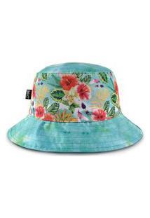 Chapéu Bucket Mxc Brasil Floral Flores Florido Garden & Sky Azul
