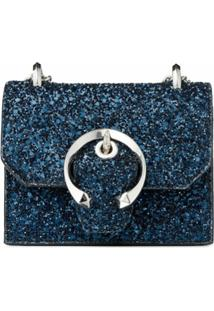 Jimmy Choo Bolsa Transversal Paris Mini - Azul