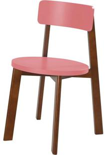 Cadeira Lina Cor Cacau Com Rosa New - 35853 - Sun House