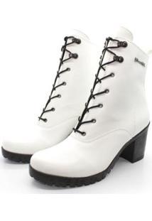 Bota Barth Shoes Wind Feminina - Feminino-Branco+Preto