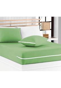 Capa De Travesseiro Mascali Verde Nille Com 1 Peças Em Algodão - Sina Enxovais