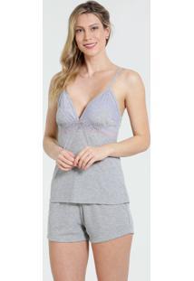 Pijama Feminino Short Doll Renda Marisa