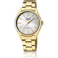 dd3a8f6f6f9 Relógio De Pulso Everlast Com Pulseira Em Aço E639 Masculino - Masculino- Dourado