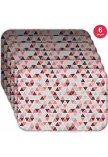 Jogo Americano Love Decor Wevans Multi Triângulos Kit Com 6 Pçs