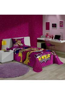 Colcha Matelassê Solteiro Barbie Super Princesa 1 Peça - Lepper
