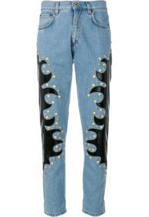 Moschino Calça Jeans Reta - Azul