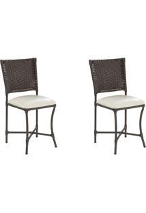 Conjunto Com 2 Cadeiras Lena Marrom Escuro