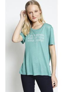 Camiseta ''I'M A Woman''- Verde & Branca- Colccicolcci
