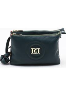 Bolsa Shoulder Bag Couro Verde Floresta - P