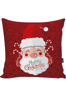 Capa Para Almofada Papai Noel- Vermelha & Branca- 48Stm Home