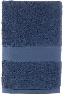 Toalha De Banho Felpuda 100% Algodão 67X140 Duomo - Teka - Azul Petróleo