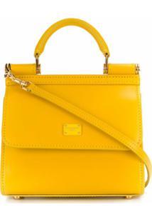 Dolce & Gabbana Bolsa Tote Sicily 58 Micro - Amarelo