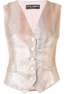 Dolce & Gabbana Colete Degradê Com Listras - Rosa