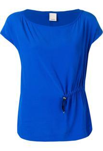 Pinko Blusa Com Franzido - Azul