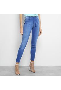 ... Calça Jeans Skinny Colcci Kim Estonada Cintura Média Feminina - Feminino-Azul  Claro 6ab666b30a0