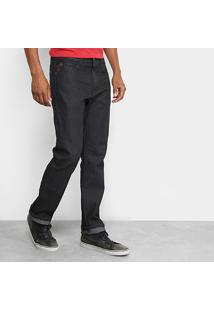 Calça Jeans Reta Ellus Estonada Black Masculina - Masculino