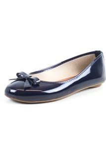 Sapatilha Tag Shoes Verniz Laã§O Azul - Azul - Feminino - Dafiti
