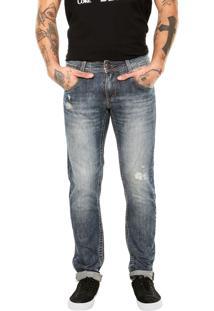 Calça Jeans Sawary Slim Azul