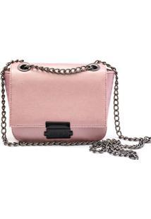Bolsa Transversal Maria Milã£O Feminina Mini Bag Rosa Metalizada - /Rosa/Rosãª/Roxo - Feminino - Dafiti