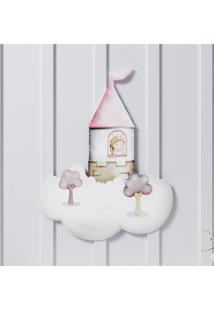 Adesivo De Parede Princesa Na Torre 42,5Cm Grã£O De Gente Rosa - Rosa - Menina - Dafiti