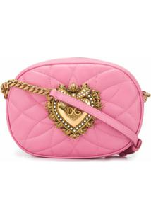 Dolce & Gabbana Bolsa Transversal Devotion Matelassê - Rosa