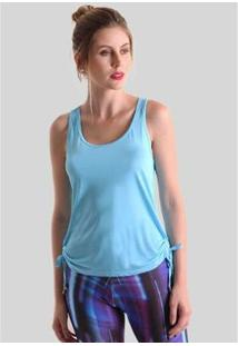 Regata Praaiah Com Puxador Lateral Feminina - Feminino-Azul