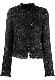 Karl Lagerfeld Jaqueta De Tweed - Preto