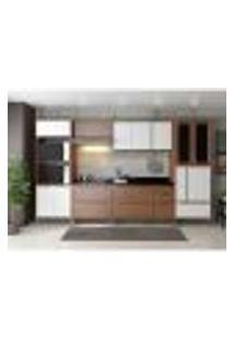 Cozinha Compacta Oran 14 Pt 5 Gv Nogueira E Branca