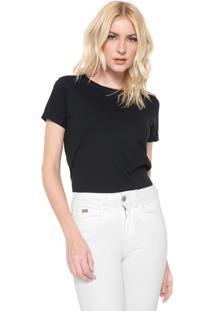 Camiseta Lunender Lisa Preta