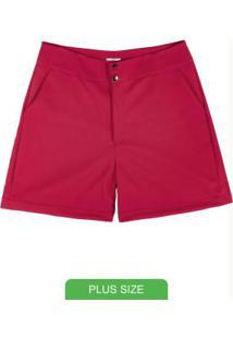 Shorts Em Tecido Compacto Vermelho