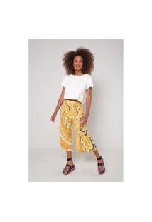 Calça Est Mandala Yellow Pantac