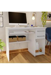 Mesa Para Computador 2 Gavetas 100% Mdf 9665 Branco - Foscarini