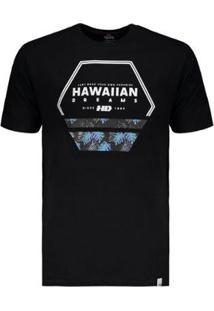 Camiseta Hd Estampa Nocturnal - Masculino-Preto