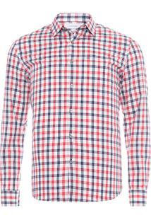 Camisa Masculina Regular Monte Carlo Xadrez - Off White