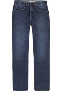 Calça Jeans Masculina Com Costura Contrastante