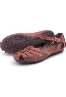 Sandalia Sapatilha Feminina Top Franca Shoes Marrom