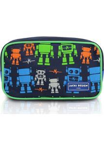 Necessaire Estojo Infantil Robô Jacki Design Sapeka Azul - Kanui