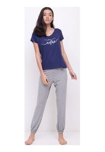 Pijama Com Calça Poá