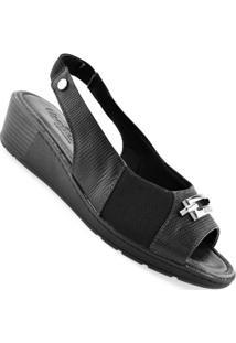 Sandália Usaflex Galapagos Feminino - Feminino-Preto