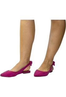 Sapatilha Lumiss Rasteirinha Slingback Confort Feminina - Feminino-Pink