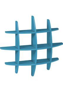 Prateleira Decorativa Média Taylor 598 Azul - Maxima