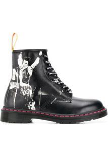 Dr. Martens Saffiano Ankle Boots - Preto