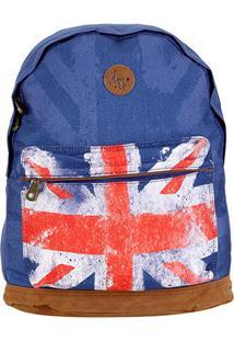 Mochila Clio Reino Unido Feminina - Feminino-Azul