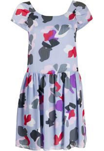 Emporio Armani Vestido Mini Com Estampa Floral - Roxo