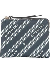 Givenchy Porta-Moedas Com Listras Icônicas E Logo - Azul