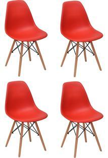 Cadeira E Banco De Jantar Impã©Rio Brazil Charles Eames Eiffel - Incolor/Vermelho - Dafiti