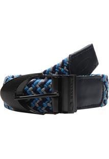 Cinto Oakley Stretch Braided Azul/Cinza