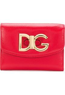 Dolce & Gabbana Carteira Pequena De Couro - Vermelho