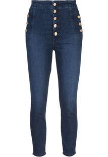 J Brand Calça Jeans Skinny Natasha Com Botões - Azul