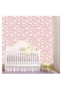 Papel De Parede Adesivo - Nuvens Baby Rosa - 090Ppb